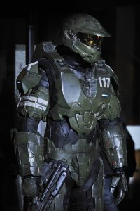 The making of Halo 4: Forward Unto Dawn. Photo shows Daniel Cudmore as MASTER CHIEF -- Photo exclusive to the Times. Microsoft is taking fate into its own hands by producing the first live action content based on the ultra-popular ÒHaloÓ video games. Set to be unveiled at Comic-Con, ÒHalo: Forward Unto DawnÓ is a five episode web series that will hit screens this fall and then be turned into a 90 minute movie available on DVD. The prequel to this fallÕs ÒHalo 4Ó video game, produced by a team of experienced filmmakers and actors, marks a major step forward in game companies stepping onto HollywoodÕs turf.